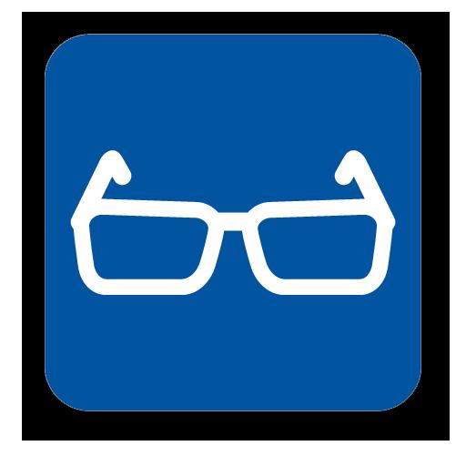 icono gafas optica leon